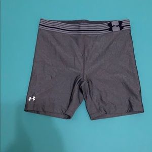 Under Armour compression shorts.